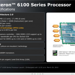 Opteron 6100 Specifications