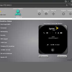 Web browser showing mifi