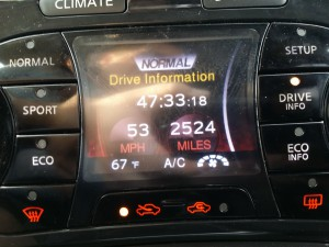 Picture of my car's trip meter from my 2013 holiday road trip.