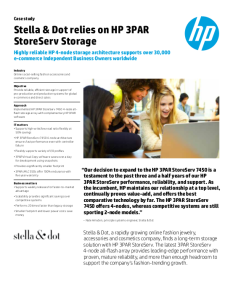 Stella & Dot HP 3PAR Case Study